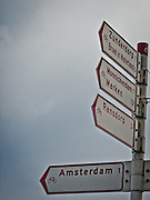 Bike lanes in the country side outside of Amsterdam are well marked for travelers.
