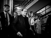Silvio Berlusconi arrive at the convetion of the Young Italy, the yuoth movement of Forza Italia party. Rome, 23 November 2013. Christian Mantuano / OneShot