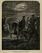 William's [William the Conqueror] march on Hexham From the Book 'Danes, Saxons and Normans : or, Stories of our ancestors' by Edgar, J. G. (John George), 1834-1864 Published in London in 1863