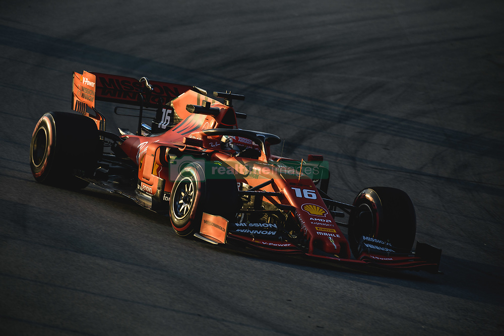 February 28, 2019 - Barcelona, Catalonia, Spain - CHARLES LECLERC (MON) from team Ferrari drives in his SF90 during day seven of the Formula One winter testing at Circuit de Catalunya (Credit Image: © Matthias Oesterle/ZUMA Wire)