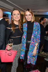 Left to right, AMY WILLIAMS and LADY ALICE MANNERS at the Duresta For Matthew Williamson Exclusive Launch At Harrods, Knightsbridge, London on 10th March 2016.