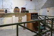 Landguard Fort, Felixstowe, Suffolk, England, UK 1950s Cold War Seaward defence headquarters radio room