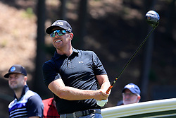 June 21, 2018 - Cromwell, CT, U.S. - CROMWELL, CT - JUNE 21: Hunter Mahan of the United States on 18 during the First Round of the Travelers Championship on June 21, 2018, at TPC River Highlands in Cromwell, Connecticut. (Photo by Fred Kfoury III/Icon Sportswire) (Credit Image: © Fred Kfoury Iii/Icon SMI via ZUMA Press)