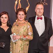 NLD/Scheveningen/20180124 - Musical Award Gala 2018, Marjolein Touw met partner en dochter