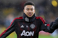 Manchester United Midfielder Jesse Lingard warm up during the The FA Cup match between Wolverhampton Wanderers and Manchester United at Molineux, Wolverhampton, England on 16 March 2019.