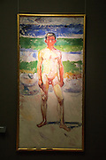 Edvard Munch oil on canvas painting 'Youth', Kode 3 art gallery, Bergen, Norway