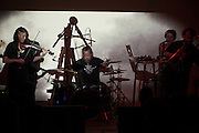Moscow, Russia, 22/04/2011..Dutch band Mount Fuji Doomjazz Corporation in concert at the DOM Cultural Centre.
