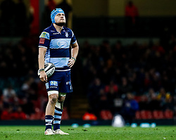 Olly Robinson of Cardiff Blues<br /> <br /> Photographer Simon King/Replay Images<br /> <br /> Guinness PRO14 Round 21 - Cardiff Blues v Ospreys - Saturday 27th April 2019 - Principality Stadium - Cardiff<br /> <br /> World Copyright © Replay Images . All rights reserved. info@replayimages.co.uk - http://replayimages.co.uk