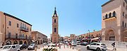 Panorama Israel, Jaffa, The Old clock tower in Jaffa, Clock Square, built in 1906 in honor of Sultan Abed al-Hamid II's 25th anniversary, became the center of Jaffa, and it is centered between Jaffa's markets