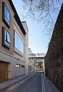 Harold H W Lee Building Building & Brewer Street Bridge. Pembroke College New Build on completion March 2013. Oxford, UK