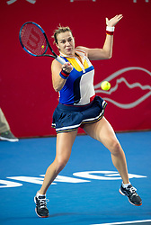 October 14, 2017 - Hong Kong, Hong Kong SAR, China - Anastasia Pavlyuchenkova in action.Russia's Anastasia Pavlyuchenkova moves into the finals following a win over China's Wang Qiang during their women's singles semi-final match at the Hong Kong Open tennis tournament on October 14, 2017. (Credit Image: © Jayne Russell via ZUMA Wire)