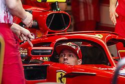 May 23, 2018 - Montecarlo, Monaco - 07 Kimi Raikkonen from Finland Scuderia Ferrari SF71H checking the mirrors of the halo during the Monaco Formula One Grand Prix  at Monaco on 23th of May, 2018 in Montecarlo, Monaco. (Credit Image: © Xavier Bonilla/NurPhoto via ZUMA Press)