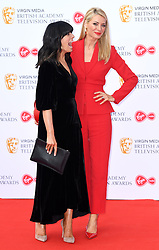 Claudia Winkleman and Tess Daly attending the Virgin Media BAFTA TV awards, held at the Royal Festival Hall in London. Photo credit should read: Doug Peters/EMPICS