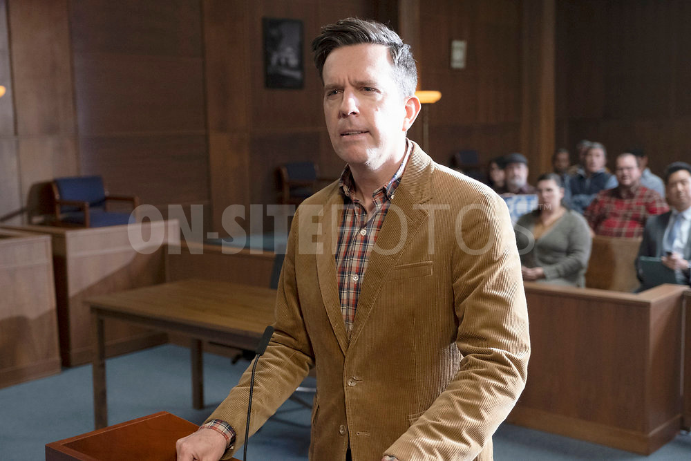 """RUTHERFORD FALLS -- """"Skoden"""" Episode 108 -- Pictured: Ed Helms as Nathan Rutherford -- (Photo by: Colleen Hayes/Peacock)"""