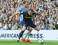 Football - 2017 / 2018 Premier League - Brighton & Hove Albion vs. Everton<br /> <br /> Leighton Baines of Everton evades a tackle from Dale Stephens of Brighton at The Amex.<br /> <br /> COLORSPORT/ANDREW COWIE