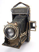 Zeiss Nettar bellows camera on white background