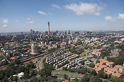 JOHANNESBURG, SOUTH AFRICA - NOVEMBER 20: An aerial view shows South Africa's government's telecommunications company Telkom known as Hillbrow Tower and around in Johannesburg, South Africa on November 20, 2016. Shiraaz Mohamed / Anadolu Agency    BRAA20161120_615 Johannesburg Afrique du Sud South Africa