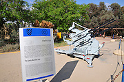 Israel, Hazirim, near Beer Sheva, Israeli Air Force museum. The national centre for Israel's aviation heritage. Anti-aircraft surface-to-air Lewis Machine Gun