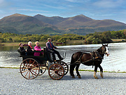 A traditional jaunting car at Ross Castle, Killarney.<br /> Picture by Don MacMonagle