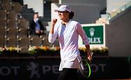Iga Swiatek of Poland in action during the doubles quarter-final at the Roland Garros 2020, Grand Slam tennis tournament, on October 7, 2020 at Roland Garros stadium in Paris, France - Photo Rob Prange / Spain ProSportsImages / DPPI / ProSportsImages / DPPI