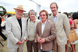 Left to right, DAVID GILMOUR, BILL WYMAN, KENNEY JONES and MIKE RUTHERFORD at the Veuve Clicquot Gold Cup polo final held at Cowdray Park, Midhurst, West Sussex on 18th July 2010.