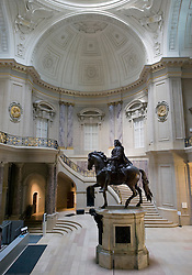 Statue in Great Dome of Bode Museum in Berlin Germany 2008