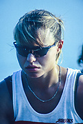 Banyoles, SPAIN, Canadian Women's Eight. Gold Medalist; Kathleen HEDDLE, competing in the 1992 Olympic Regatta, Lake Banyoles, Barcelona, SPAIN.   [Mandatory Credit: Peter Spurrier: Intersport Images]