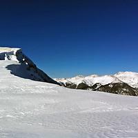 USA, Colorado, Keystone. Snow in the mountains of Keystone.