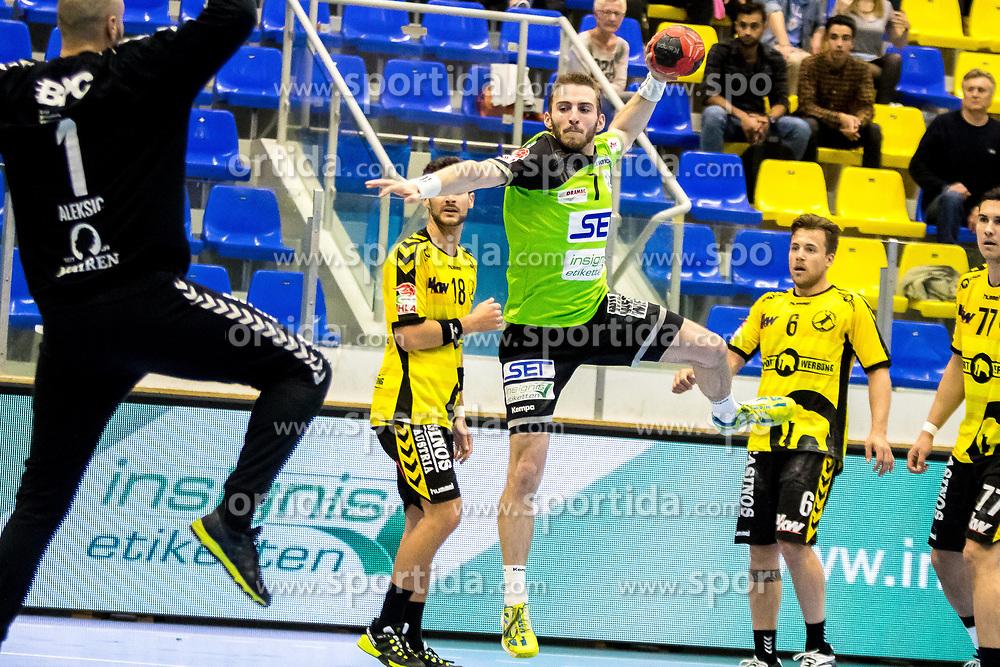 27.04.2018, BSFZ Suedstadt, Maria Enzersdorf, AUT, HLA, SG INSIGNIS Handball WESTWIEN vs Bregenz Handball, Viertelfinale, 1. Runde, im Bild Matthias Führer (SG INSIGNIS Handball WESTWIEN) // during Handball League Austria, quarterfinal, 1 st round match between SG INSIGNIS Handball WESTWIEN and Bregenz Handball at the BSFZ Suedstadt, Maria Enzersdorf, Austria on 2018/04/27, EXPA Pictures © 2018, PhotoCredit: EXPA/ Sebastian Pucher