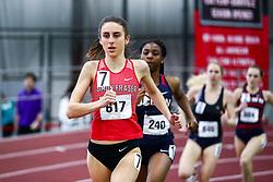 womens 800 meters, heat 3, Simon Fraser, Sophie Dodd<br /> Boston University Scarlet and White<br /> Indoor Track & Field, Bruce LeHane