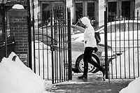 The North End Boston, Massachusetts in winter. ©2015  Karen Bobotas Photographer
