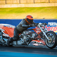 Kevin Gummow (559) competing in Top Bike on his supercharged Kawasaki.