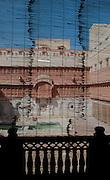 Obscured view through Harem window - Junagadh Fort - Bikaner India 2011