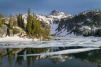 Eagle Cap reflected in Mirror Lake, Eagle Cap Wilderness Oregon
