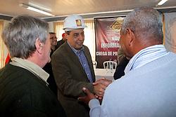 Sebastião Melo durante debate no Sindicato da Construção Civil - STICC. FOTO: Jefferson Bernardes/Preview.com