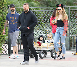 Adam Levine was spotted with his wife taking their children Trick or Treating on Halloween in their Los Angeles neighborhood. ***SPECIAL INSTRUCTIONS*** Please pixelate children's faces before publication.***. 31 Oct 2018 Pictured: Adam Levine takes his wife Behati Prinsloo and kids Trick or Treating on Halloween. Photo credit: ROMA / MEGA TheMegaAgency.com +1 888 505 6342