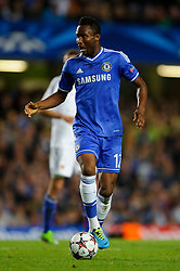 Chelsea Midfielder Mikel John Obi (NGA) in action during the second half of the match - Photo mandatory by-line: Rogan Thomson/JMP - Tel: 07966 386802 - 18/09/2013 - SPORT - FOOTBALL - Stamford Bridge, London - Chelsea v FC Basel - UEFA Champions League Group E