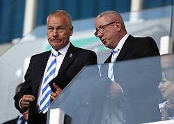 Gillingham director of football Peter Taylor (left) in the stands before kick off