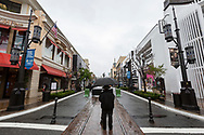 2:53pm 3/13/2020 <br /> The entrance to The Grove shopping center is empty of guest due to coronavirus fears.