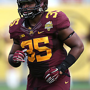 ORLANDO, FL - JANUARY 01:  Rodrick Williams Jr. #35 of the Minnesota Golden Gophers is seen during the Buffalo Wild Wings Citrus Bowl between the Minnesota Golden Gophers and the Missouri Tigers at the Florida Citrus Bowl on January 1, 2015 in Orlando, Florida. (Photo by Alex Menendez/Getty Images) *** Local Caption *** Rodrick Williams Jr.