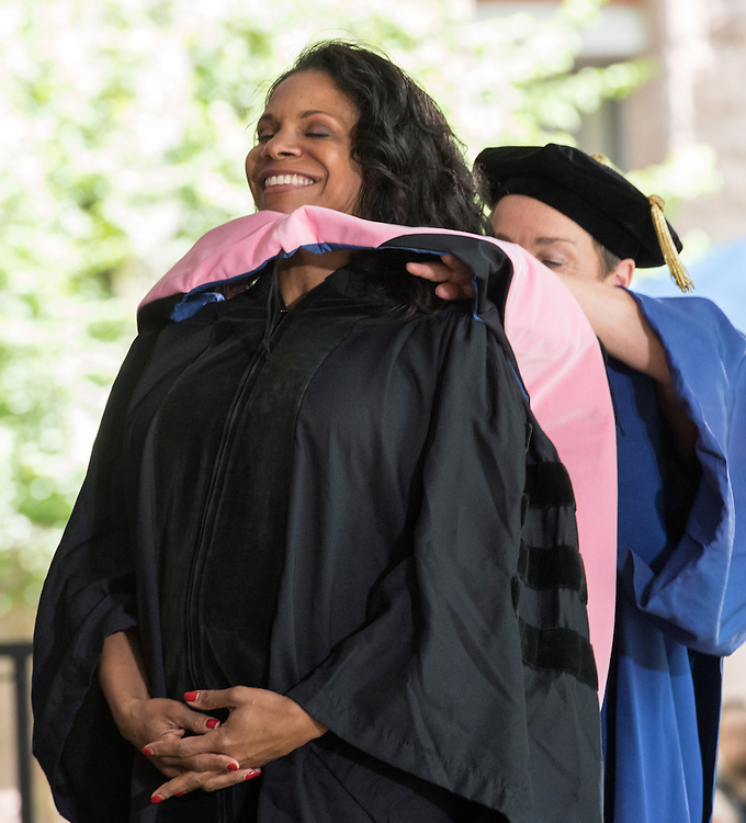 May 23, 2016 New Haven<br /> The Yale University commencement exercises. Six-time Tony award-winning singer and actress Audra McDonald receiving her honorary doctorate.