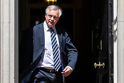 © Licensed to London News Pictures. 14/05/2018. London, UK. Secretary of State for Exiting the European Union David Davis seen leaving 10 Downing Street. Photo credit: Rob Pinney/LNP