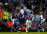 Photo: Olly Greenwood.<br />West Ham United v Blackburn Rovers. The Barclays Premiership. 29/10/2006. West Ham's Teddy Sheringham scores