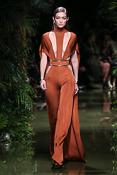 Gigi Hadid walks the runway during the Balmain show as part of the Paris Fashion Week Womenswear Spring/Summer 2017 on September 29, 2016 in Paris, France. Photo by ABACAPRESS.COM