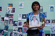 in Reynosa, Tamaulipas, the caravan of central american mothers arrives to the border with the United States, where they throw flowers into the Bravo River. Tamaulipas is one of the most dangerous places for mexican and central american migrants due to the presence of criminal groups. .Pictured: Lidia Diego Mateo, from Nuevo San Lorenzo Ixcan, Guatemala, who lost contact with her daughter Leonora Morales Diego in 2008, when she was in Benemérito, Chiapas..(Photo: Prometeo Lucero)