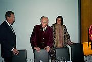 DONALD KHAN JNR; DONALD KHAN; ALEXANDRA  EIKEL LOHBERGER;, Dinner at the Museum der Moderne. Salzburg.  Amadeus Weekend. Salzburg. 23 August 2008.  *** Local Caption *** -DO NOT ARCHIVE-© Copyright Photograph by Dafydd Jones. 248 Clapham Rd. London SW9 0PZ. Tel 0207 820 0771. www.dafjones.com.