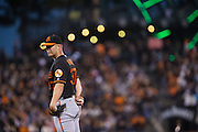 Baltimore Orioles starting pitcher Dylan Bundy (37) stands at the mound against the San Francisco Giants at AT&T Park in San Francisco, Calif., on August 12, 2016. (Stan Olszewski/Special to S.F. Examiner)