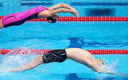 July 26, 2017 - Budapest, Hungary - Lisa Graf (GER)  and Ryan Murphy (USA), during the men's 100 meter at the 17th FINA World Championships in Budapest on 26 July 2017. (Credit Image: © Foto Olimpik/NurPhoto via ZUMA Press)