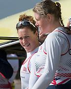 Caversham. Berkshire. UK<br /> left,Karen BENNETT and Frances HOUGHTON.<br /> 2016 GBRowing European Team Announcement,  <br /> <br /> Wednesday  06/04/2016 <br /> <br /> [Mandatory Credit; Peter SPURRIER/Intersport-images]