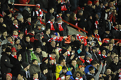 Bristol City fans - Photo mandatory by-line: Dougie Allward/JMP - Mobile: 07966 386802 - 29/01/2015 - SPORT - Football - Bristol - Ashton Gate - Bristol City v Gillingham - Johnstone Paint Trophy